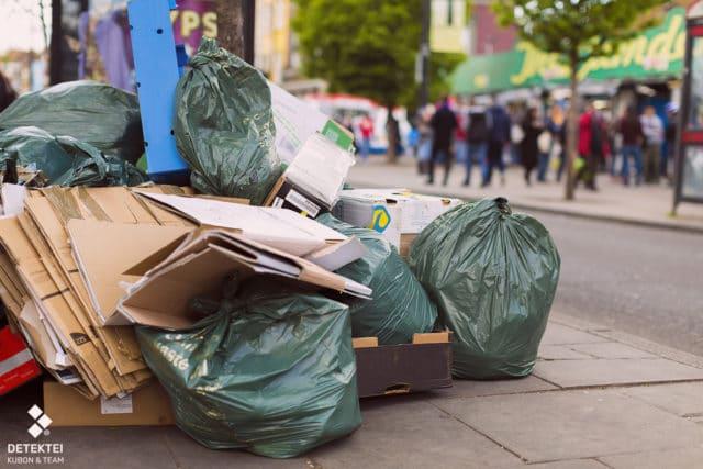 Müllsünder hat Müllberg abgestellt