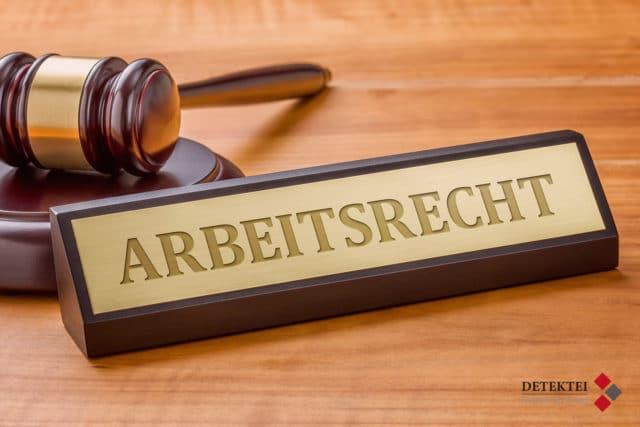 Schild Arbeitsrecht Richterhammer Detektei Kubon Logo