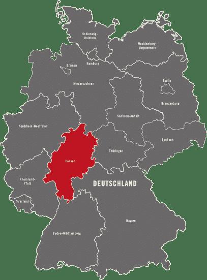 Karte Detektei Hessen