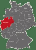 Deutschlandkarte detektei-nordrhein-westfalen