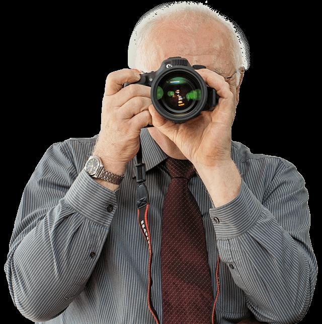 detektiv fotografiert
