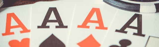 Spielkarten, 5 Asse, Spielsucht